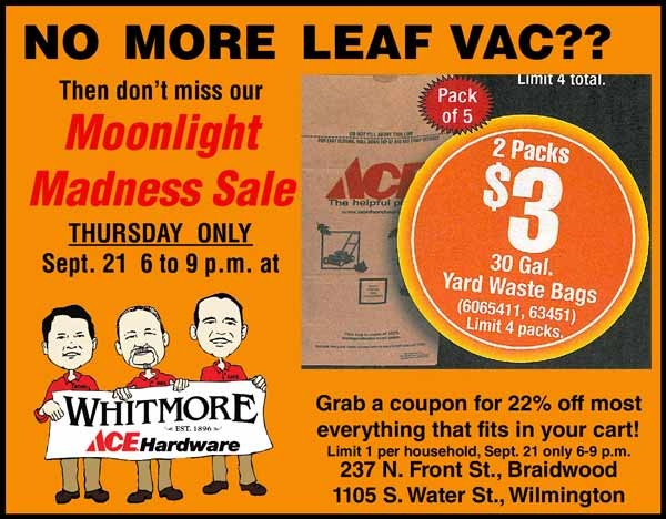 STORY FREE THANKS TO WHITMORE ACE HARDWARE
